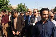 استان سمنان  ا حضور در مراسم تشییع شهدای گمنام