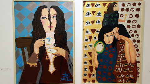 نمایشگاه نقاشی از آثار زنان دارای اختلال اعصاب و روان