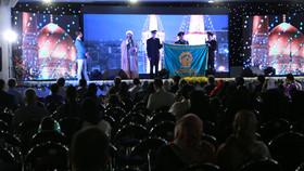 مراسم بدرقه پرچم گنبد حضرت علی بن موسی الرضا (ع)