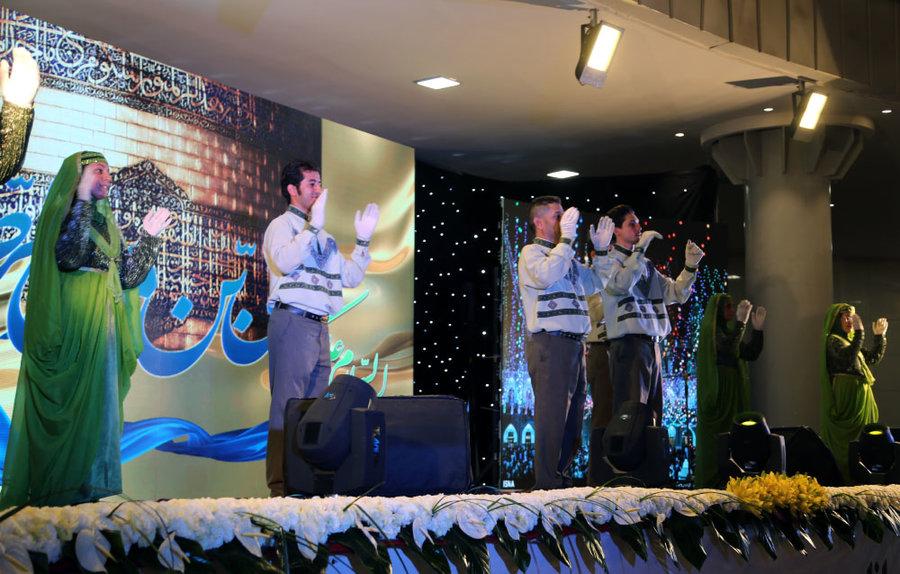 گزارش تصویری ا جشن روز بهزیستی همراه با بدرقه پرچم گنبد حضرت علی بن موسی الرضا (ع) در ایوان فرهنگی انتظار
