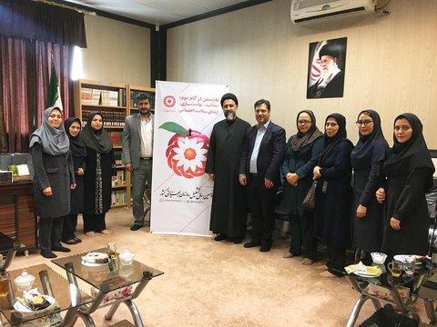 تهران| ملارد |دیدار همکاران با امام جمعه به مناسبت هفته بهزیستی در شهرستان ملارد