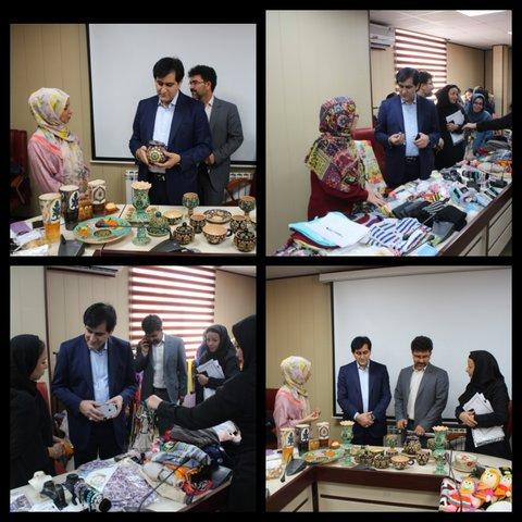 البرز | نمایشگاهی از دستاوردهای زنان سرپرست خانوار در ستاد اداره کل بهزیستی البرز برگزار شد