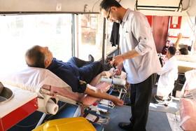 گیلان | استقرار پایگاه سیار انتقال خون در اداره کل بهزیستی گیلان