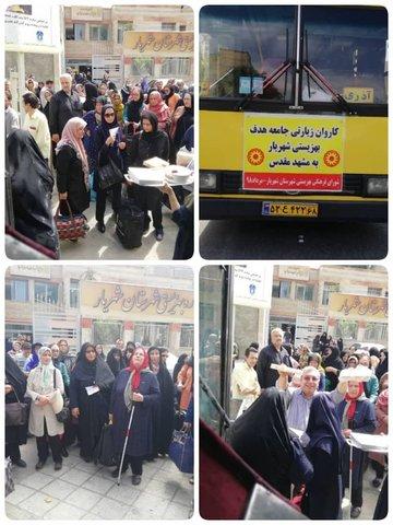 تهران| اعزام پنجمین کاروان مددجویان بهزیستی استان تهران به مشهد