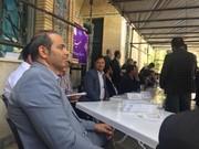 تهران  ملارد استقرار میزخدمت اداره بهزیستی ملارد در مصلای نماز جمعه