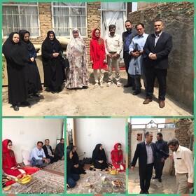 البرز | نظرآباد | دیدار رئیس بهزیستی شهرستان نظرآباد با خانم لیلا صمدی