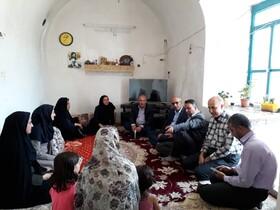 استان سمنان ا سرخه  دیدار مددجویی مدیر کل به اتفاق فرماندار شهرستان