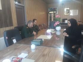 اصفهان| مبارکه| دیدار سرپرست بهزیستی شهرستان با سرهنگ عطایی فرماندهی سپاه