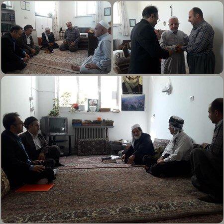 کردستان | مریوان | دیدار ریاست اداره بهزیستی از ائمه جماعت مساجد تحت پوشش در مریـوان
