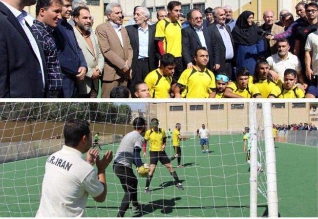 حضور وزیر تعاون، کار و رفاه اجتماعی در میان ملی پوشان فوتبال نابینای کشور