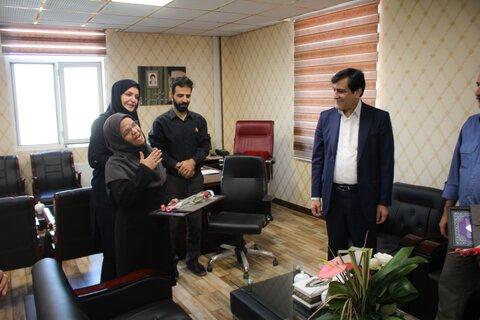 دکتر اسدالله حیدری به مناسبت هفته ناشنوایان با همکاران ناشنوای اداره کل بهزیستی دیدار کرد