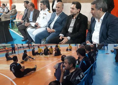 حضور دکتر نحوی نژاد در شانزدهمین دوره مسابقات والیبال نشسته جانبازان و معلولین