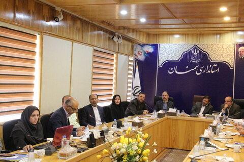 حضور معاون وزیر و رئیس سازمان امور اجتماعی کشور در کارگروه اجتماعی و فرهنگی استان سمنان
