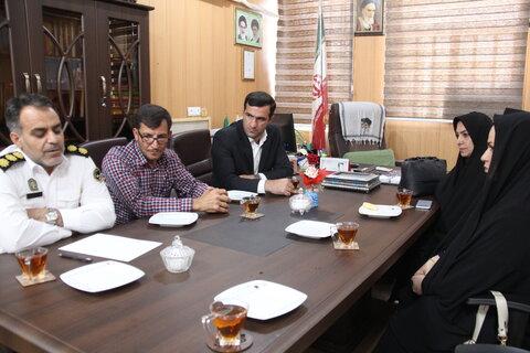 دیدار مدیر کل بهزیستی ایلام با رییس پلیس راه استان
