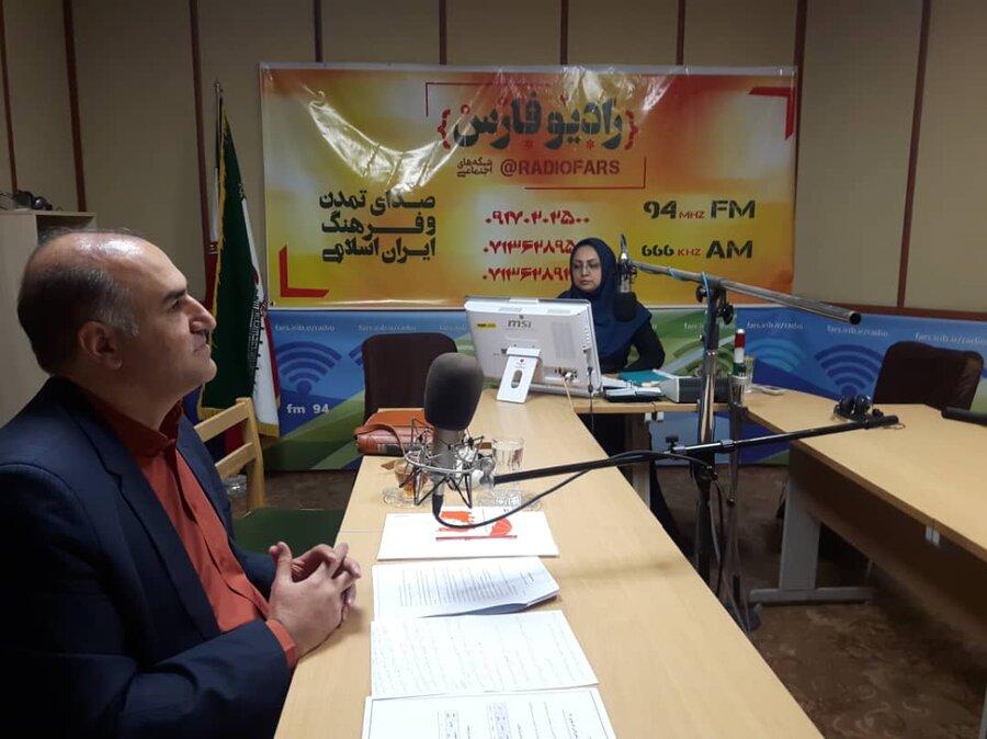 حضور معاون امور توانبخشی اداره کل بهزیستی فارس در برنامه رادیویی  سایبان مهر به مناسبت روز جهانی ناشنوایان