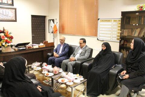 دیدار مدیرکل کانون پرورش فکری کودکان و نوجوانان با مدیرکل بهزیستی استان سمنان