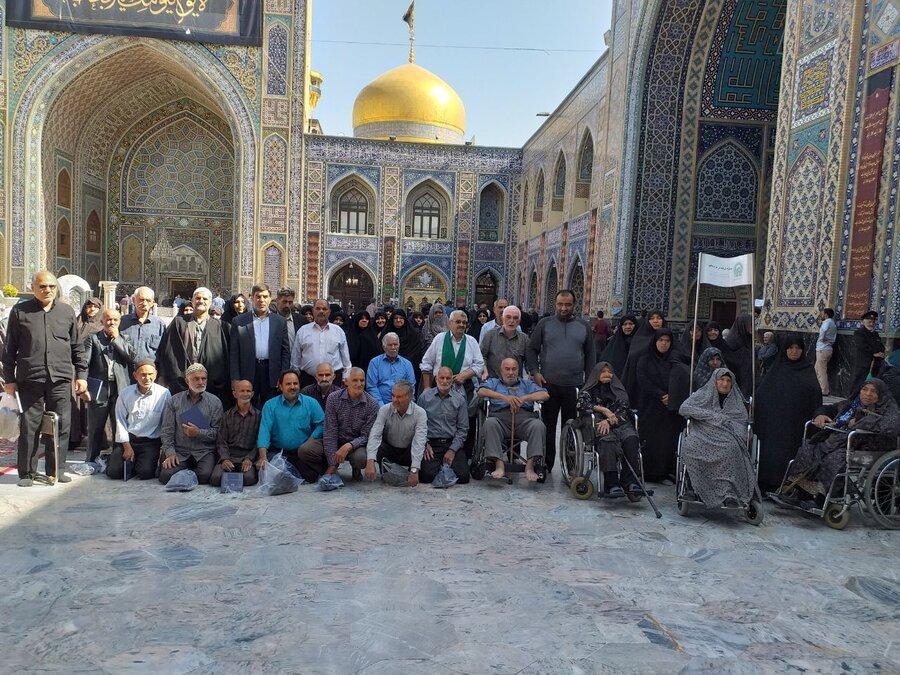 اردوی زیارتی و سیاحتی مشهد مقدس ویژه سالمندان اشکذر برگزار شد