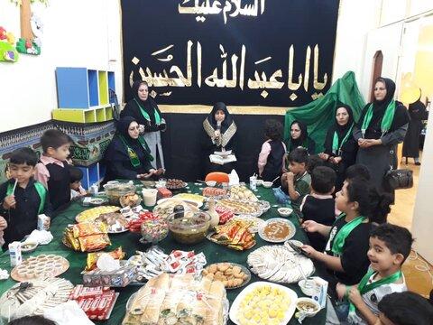 مراسم سه ساله های حسینی در مهد کودک های سراسر استان برگزار شد