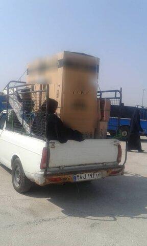 اهواز  اقلام ضروری منزل با مشارکت بنیاد برکت بین سیل زدگان توزیع شد