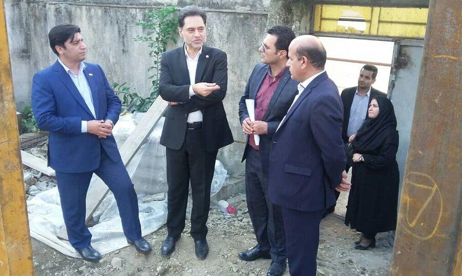 بازدید مدیرکل بهزیستی از پروژه در حال ساخت خانه اتیسم گیلان