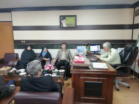 شهریار | رییس بهزیستی با فرماندهی نیروی انتظامی شهرستان دیدار کرد