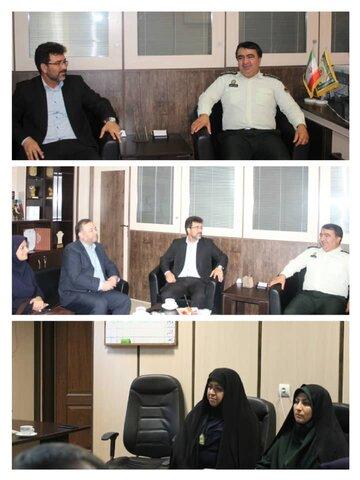 تبریک مسئولین بهزیستی کرج به سبز پوشان خدوم نیروی انتظامی استان البرز