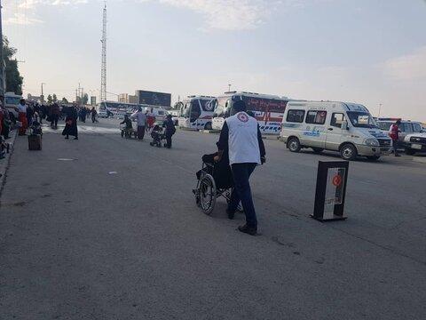 گزارش تصویری از خدمت رسانی کارکنان بهزیستی ایلام  به زائران اربعین حسینی در مرز مهران