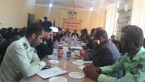 برگزاری جلسه شورای اداری دیشموک با حضور دکتر فرید