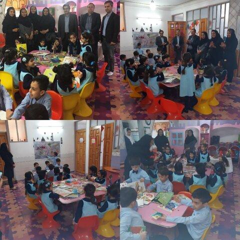 حضور مسئولین در دوشنبه های کتابخوانی کودکان ساوجبلاغی