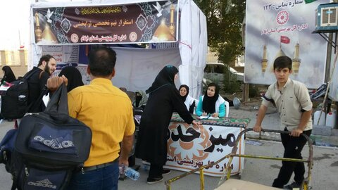 گزارش تصویری از میزبانی کارکنان بهزیستی ایلام از عشاق حسینی