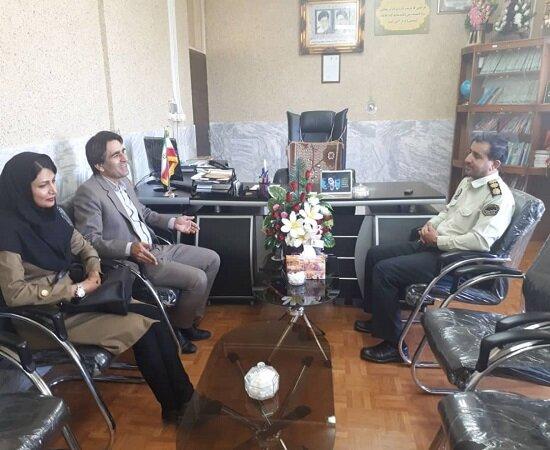 دیدار صمیمانه با فرماندهی نیروی انتظامی شهرستان کامیاران