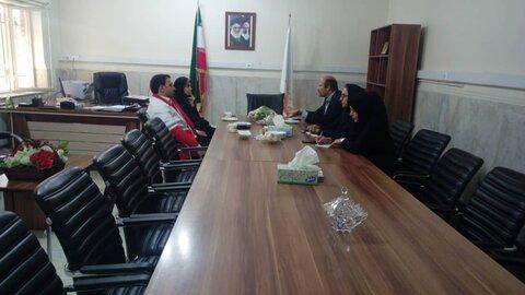 جلسه هم اندیشی بهزیستی و هلال احمر شهرستان فردیس