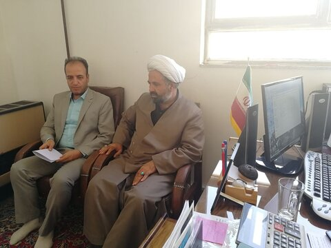 نشست مشترک تبلیغات اسلامی با بهزیستی شهرستان در جهت گسترش فعالیت ها و همکاری های دو جانبه