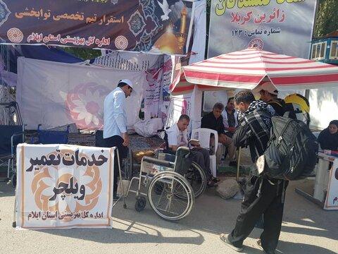 گزارش تصویری توانخواه ایلامی که در مرز مهران به زایران خدمت می کند