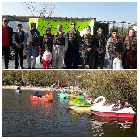 برگزاری مسابقه قایق سواری به مناسبت روزجهانی عصای سفید در مریـوان