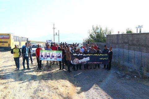 برگزاری همایش کوه پیمایی بمناسبت بزرگداشت روز جهانی عصای سفید در سقز