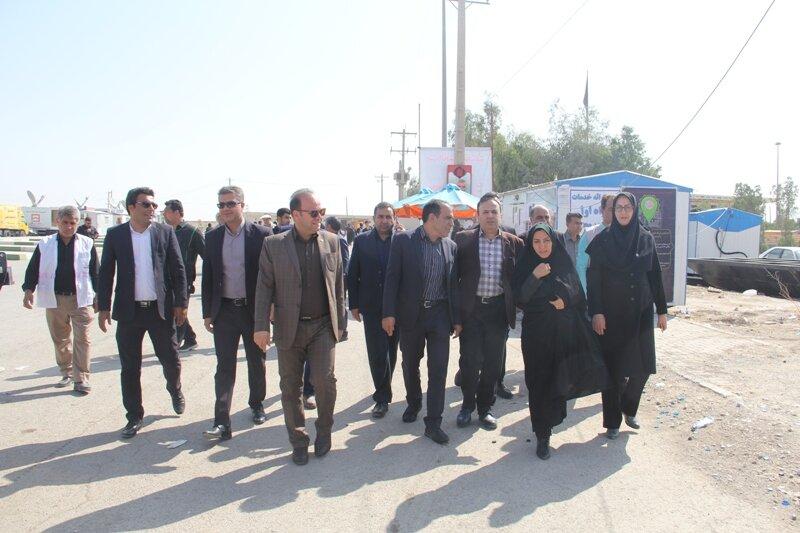 گزارش تصویری بازدید مسئولان ایلامی از ستاد گمشدگان بهزیستی ایلام در مرز مهران