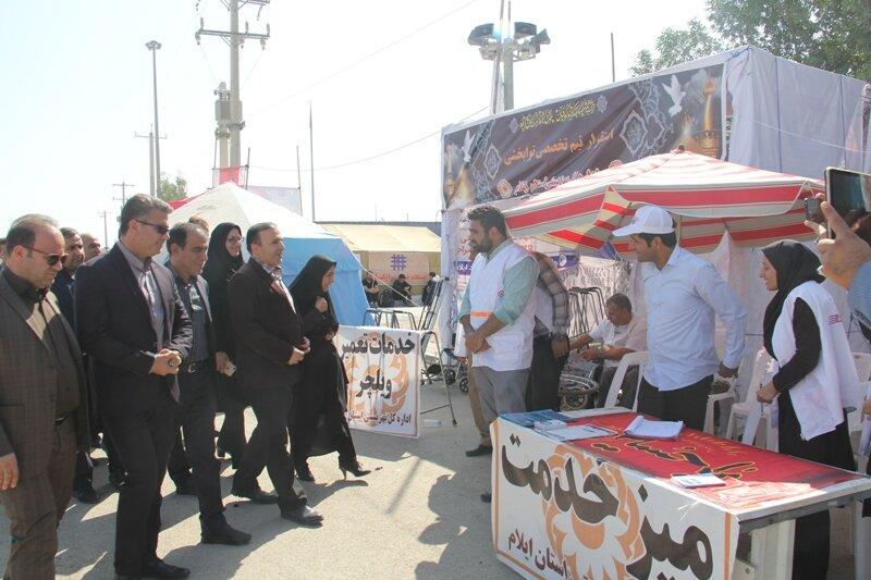 فیلم تشریح فعالیتهای بهزیستی در مرز مهران توسط مدیر کل بهزیستی ایلام