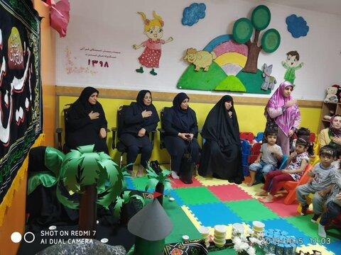 مراسم سه ساله های حسینی مهدهای کودک کیش
