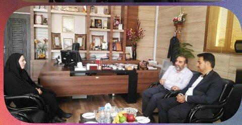 کوار ا دیدار فرماندار و سرپرست بهزیستی شهرستان کوار با مدیر کل بهزیستی استان فارس