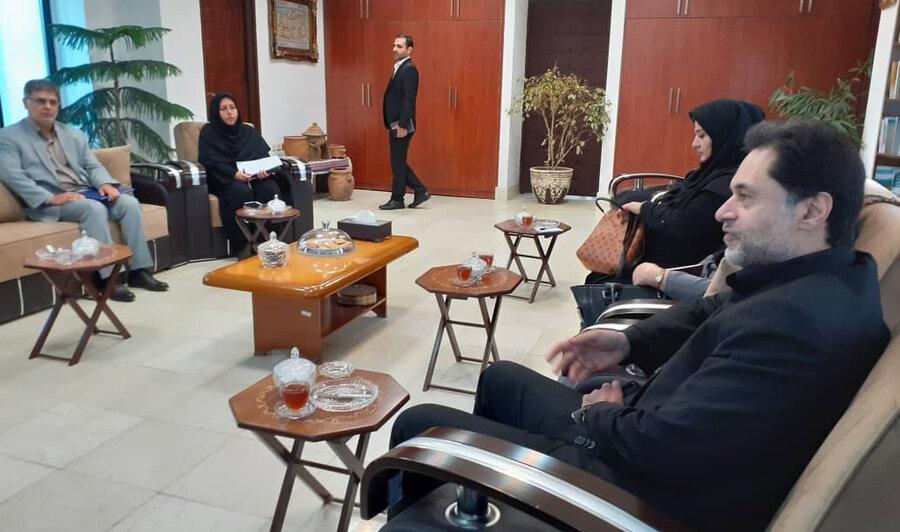 نشست مدیرکل بهزیستی با فرماندار آستارا