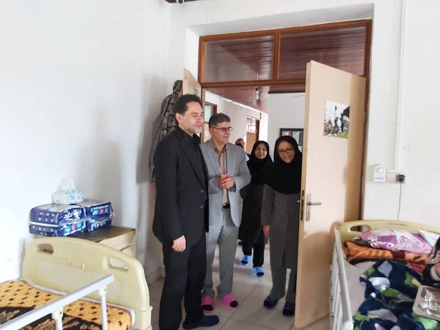بازدید دکتر حسین نحوی نژاد از آسایشگاه شبانه روزی سعادت آستارا