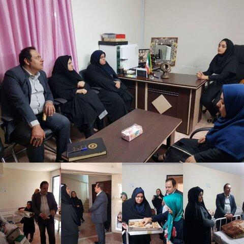 ساوجبلاغ | رئیس بهزیستی ساوجبلاغ با بیماران اعصاب وروان تحت پوشش وبستری در مرکز نگهداری دیدار کرد