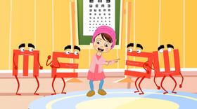 انیمیشن ا لزوم سنجش بینایی کودکان ۳ تا ۶ سال برای پیشگیری از تنبلی چشم
