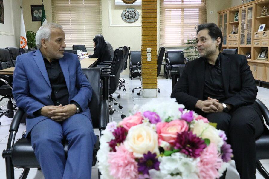 دیدار نمایندگان مردم رشت در مجلس شورای اسلامی با مدیرکل بهزیستی گیلان