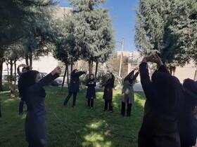 فردیس   برگزاری ورزش صبحگاهی بانوان شاغل در اداره بهزیستی شهرستان فردیس