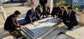 حضور مدیرکل بهزیستی گیلان بر سر مزار شهید املاکی و گرامیداشت یاد و خاطره این شهید بزرگوار