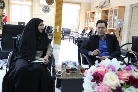 دیدار مدیرکل کتابخانه های گیلان با دکتر حسین نحوی نژاد