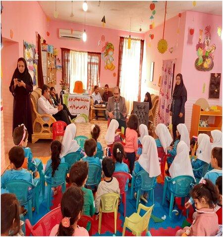 اجرای دوشنبه های کتابخوانی در مهدهای کودک جیرفت