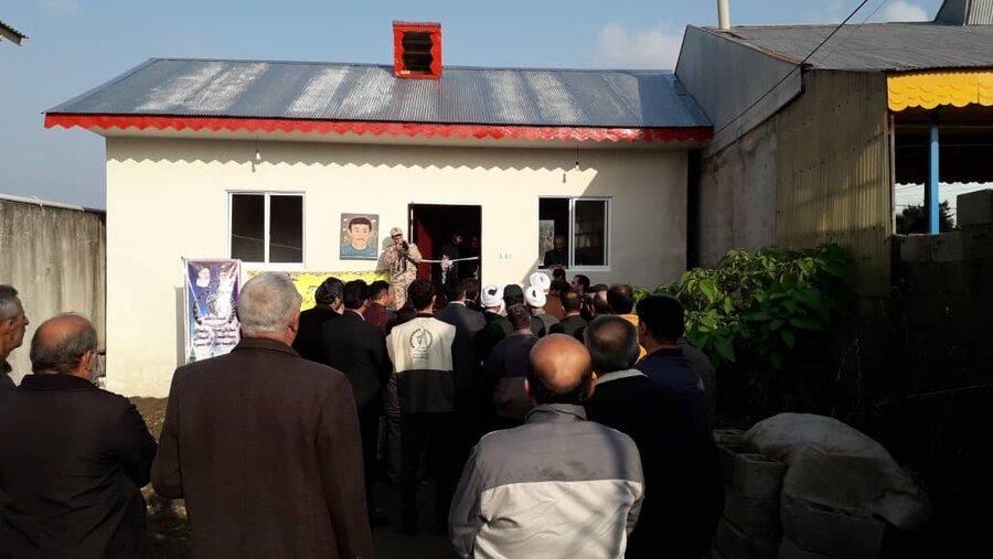 آئین کلنک زنی مسکن مددجویی با مشارکت سپاه پاسداران در صومعه سرا